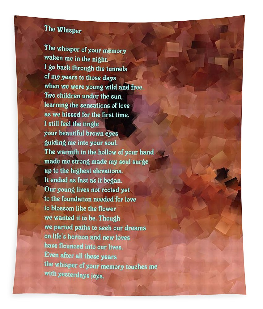 Poetry Tapestry featuring the photograph The Whisper by Jeff Swan
