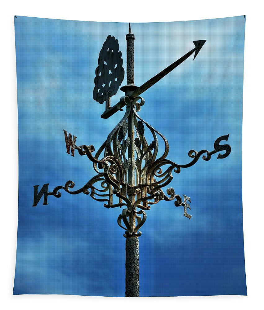 Weather Vane Tapestry featuring the photograph The Winds Of Time by Leslie Montgomery