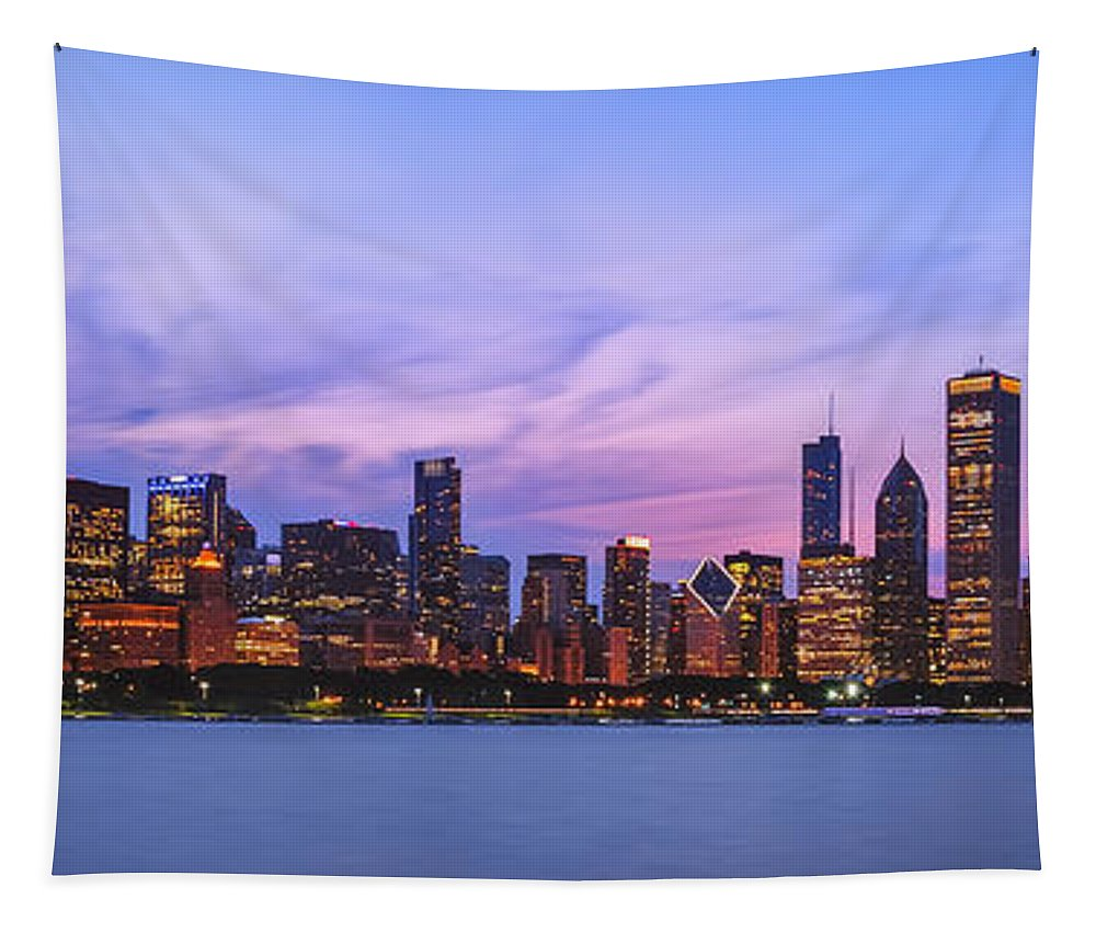 Lake Michigan Tapestry featuring the photograph The Windy City by Scott Norris