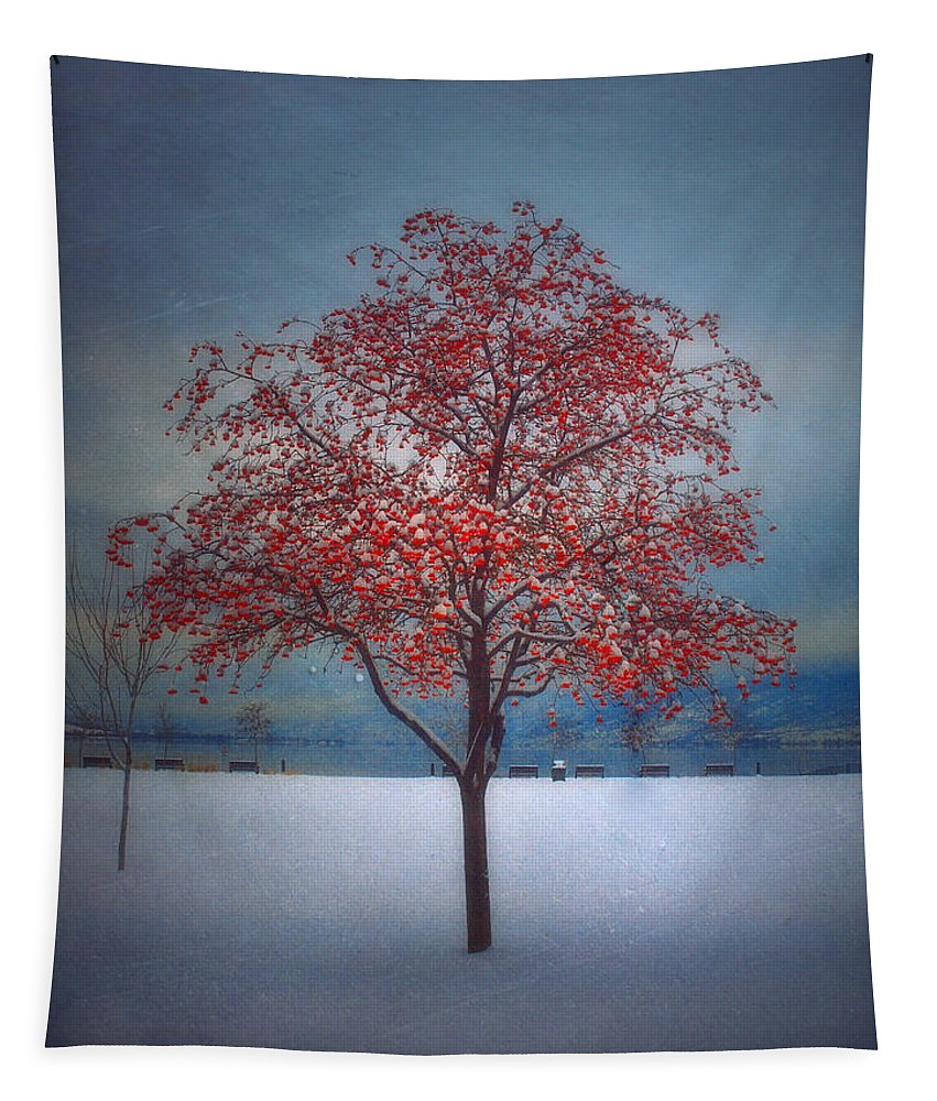 Tree Tapestry featuring the photograph The Winter Berries by Tara Turner