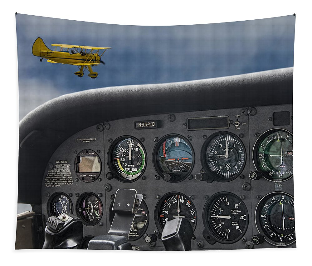 Airplane Tapestry featuring the photograph Then And Now by Mitch Spence