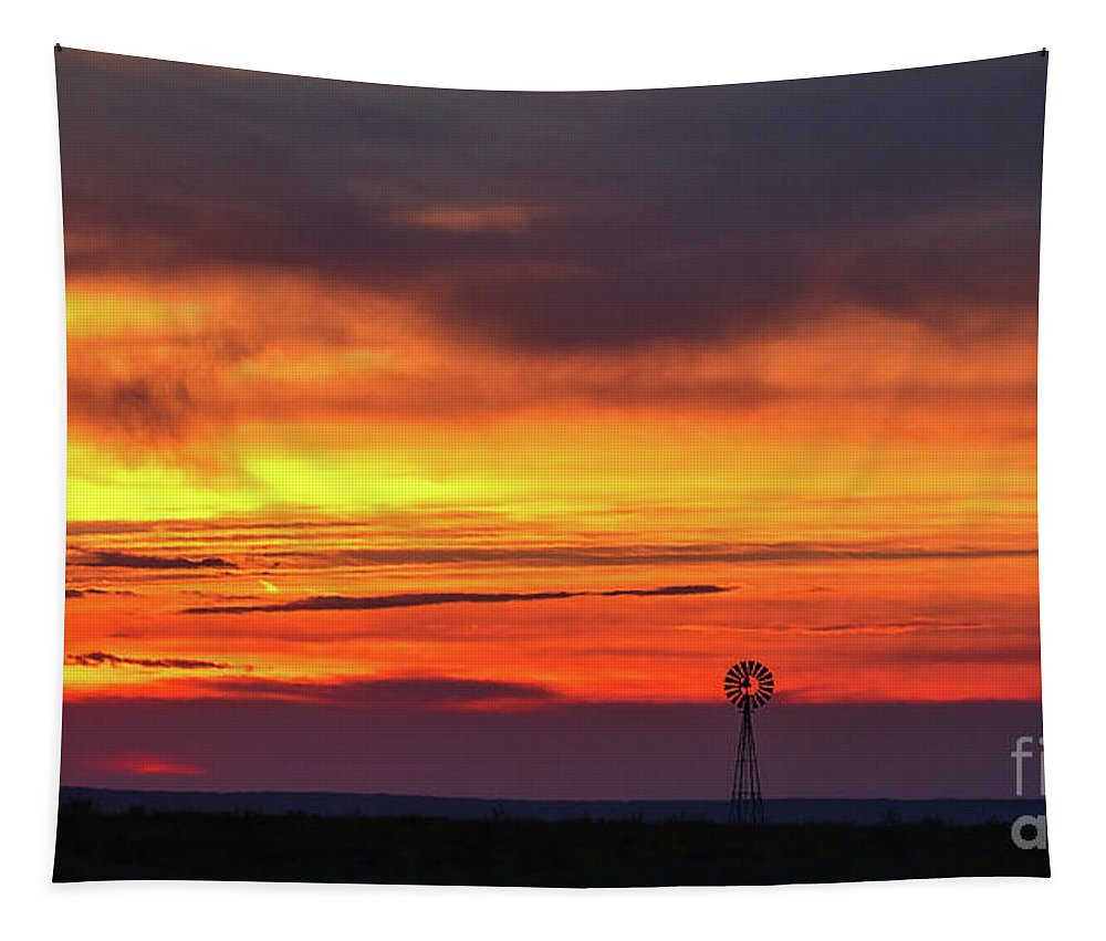 Sunset Landscape Tapestry featuring the photograph Then Came The Morning by Jim Garrison