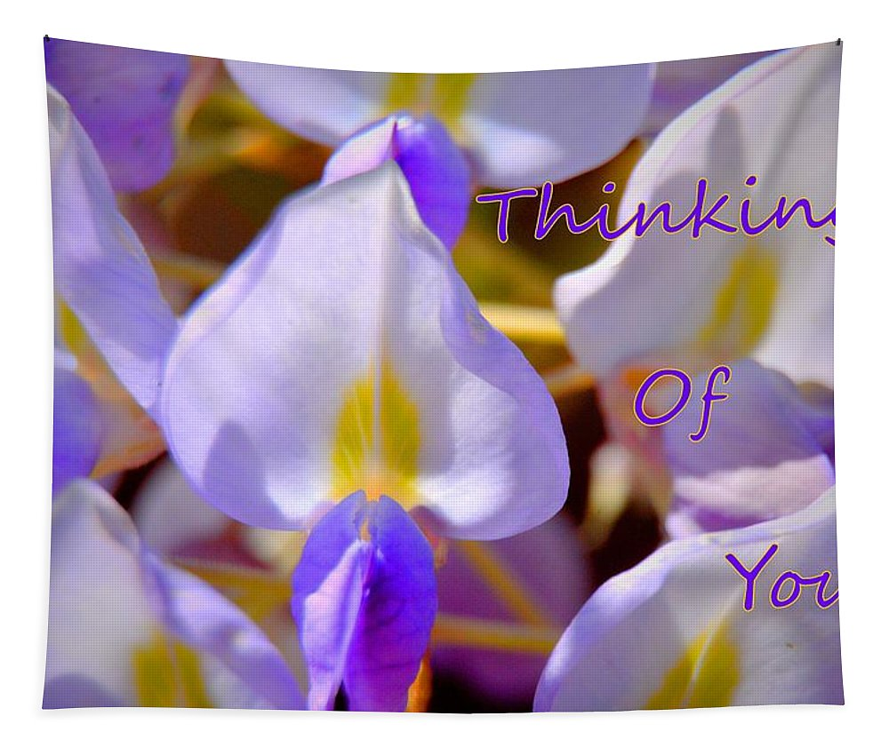 Thinking Of You Wisteria Lisa Wooten Photography Tapestry featuring the photograph Thinking Of You Wisteria by Lisa Wooten