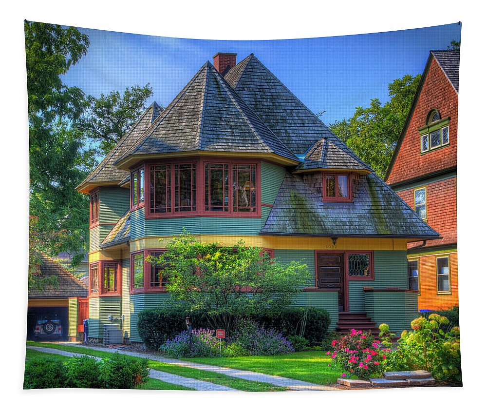 Thomas G. Hale Tapestry featuring the photograph Thomas G. Hale House by Robert Storost