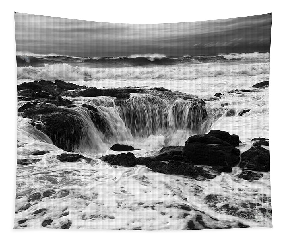 Thors Well Tapestry featuring the photograph Thors Well Truly A Place Of Magic 7 by Bob Christopher