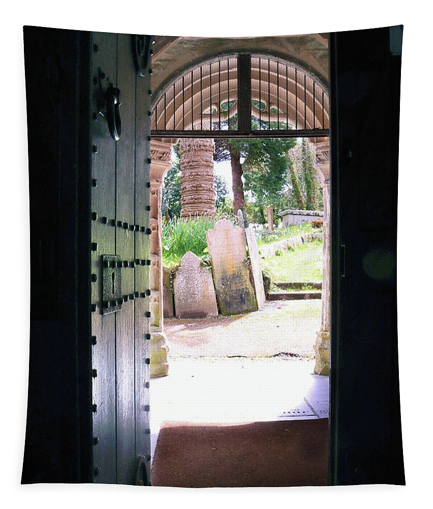 Mylor Tapestry featuring the photograph Through The Door Of St Mylor by Terri Waters