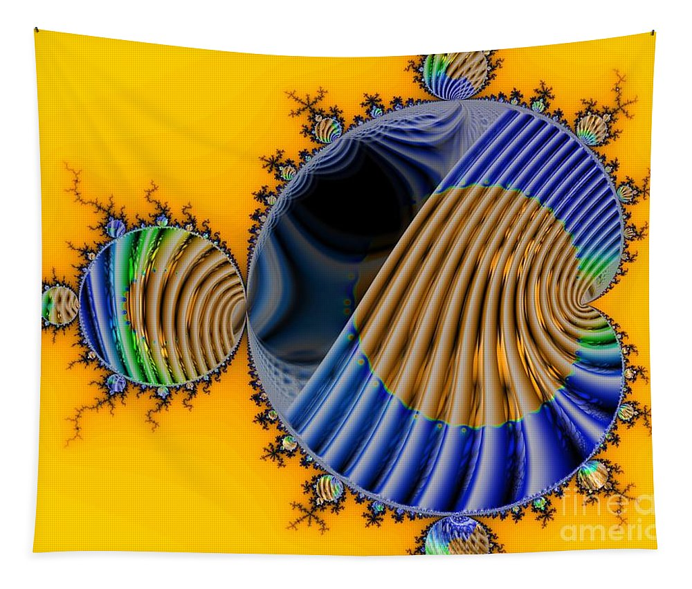 Julia Fractal Tapestry featuring the digital art Thru a Julia Lens by Ron Bissett