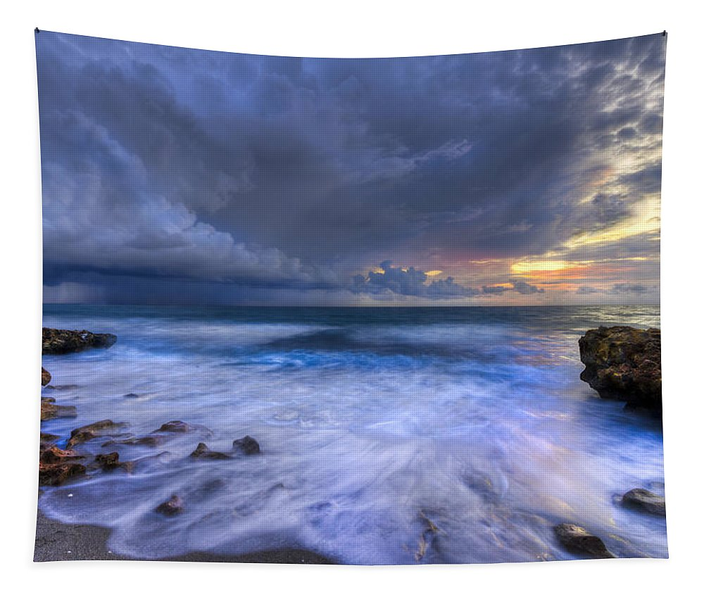 Blowing Tapestry featuring the photograph Thunder Tides by Debra and Dave Vanderlaan