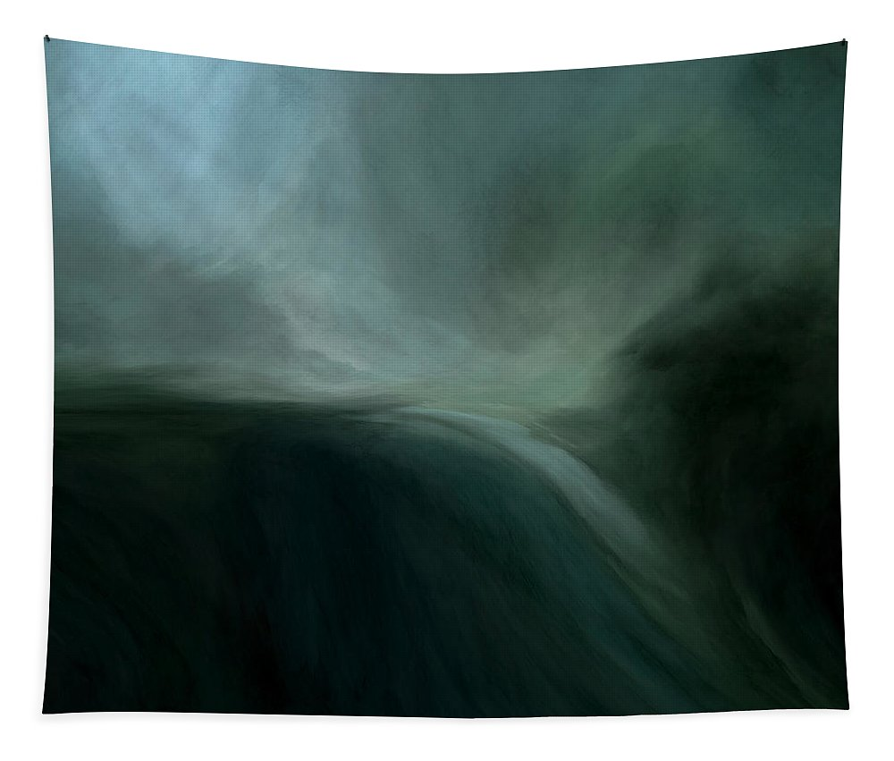 Lc Bailey Tapestry featuring the mixed media Tidal Wave by Lonnie Christopher