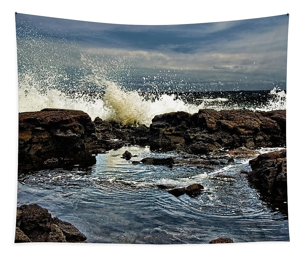Waves Tapestry featuring the photograph Tide Coming In by Christopher Holmes