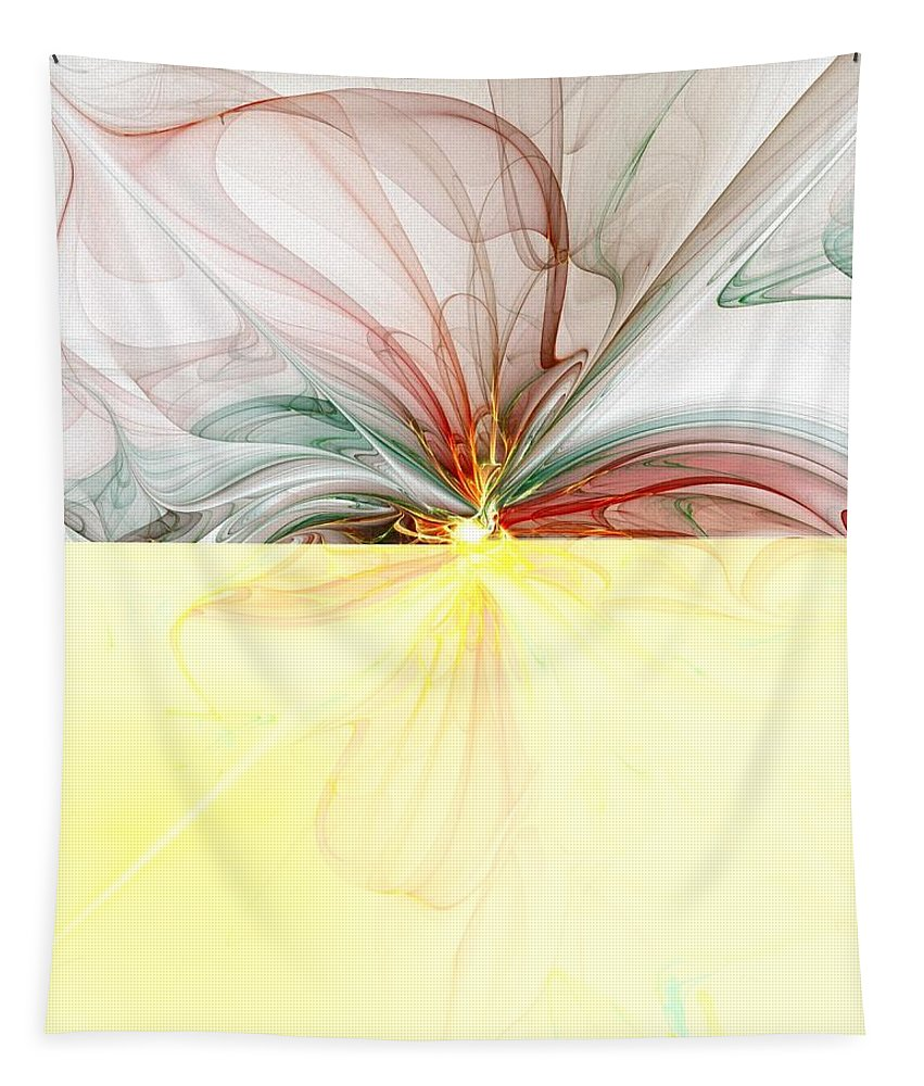 Digital Art Tapestry featuring the digital art Tiger Lily by Amanda Moore
