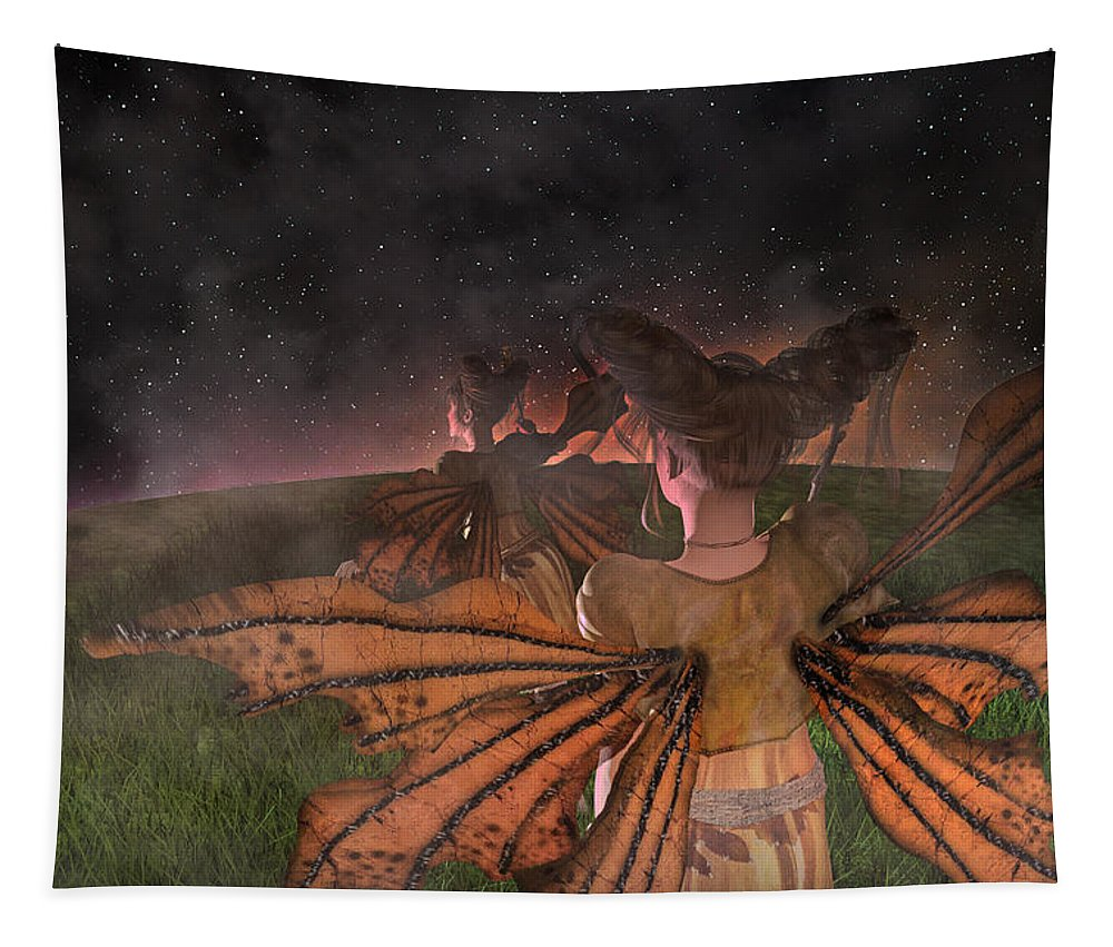 Fairy Tapestry featuring the digital art Till I See You Again by Betsy Knapp