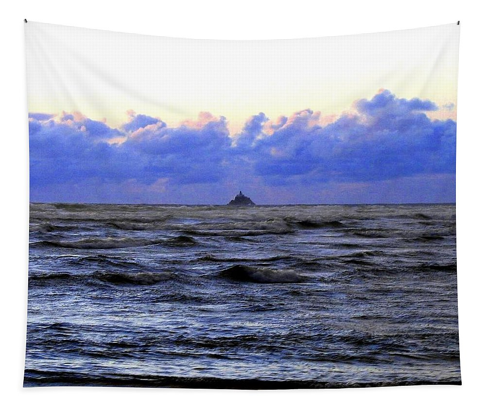 Lighthouse Tapestry featuring the photograph Tillamook Rock Lighthouse by Will Borden