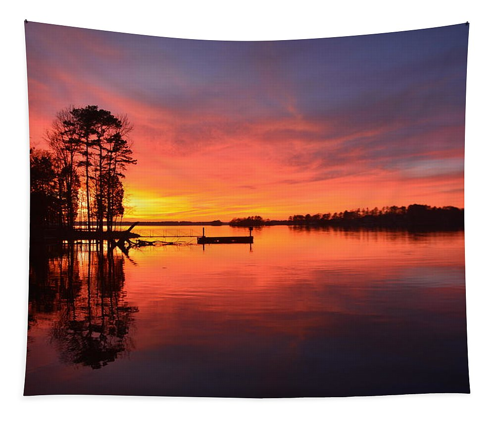 Time To Reflect Tapestry featuring the photograph Time To Reflect by Lisa Wooten