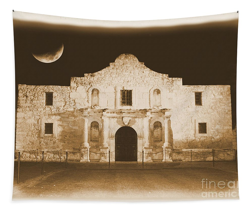 The Alamo Tapestry featuring the photograph Timeless Alamo by Carol Groenen