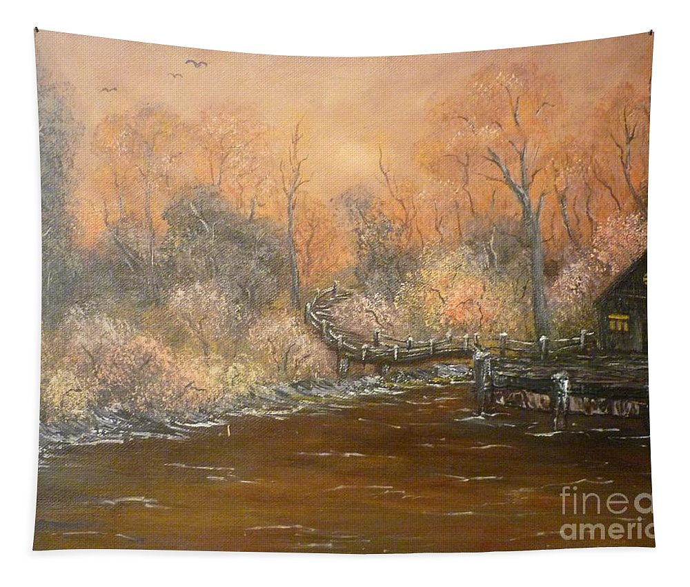Timeless Tapestry featuring the painting Timeless by Andreea Moldovan