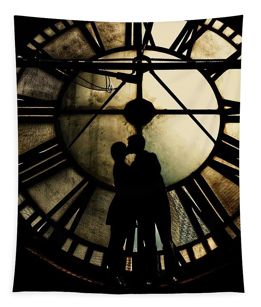 Timeless Love Tapestry featuring the photograph Timeless Love - Golden Brown by Marianna Mills