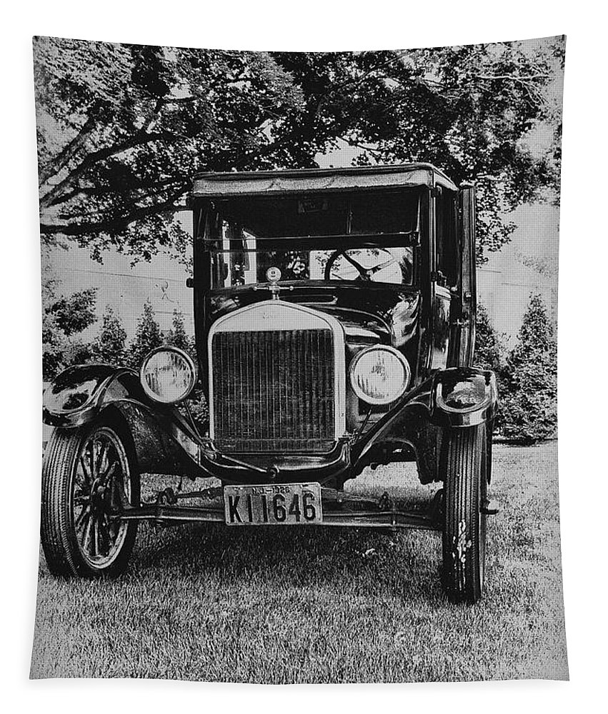 Ford Model T Tapestry featuring the photograph Tin Lizzy - Ford Model T by Bill Cannon