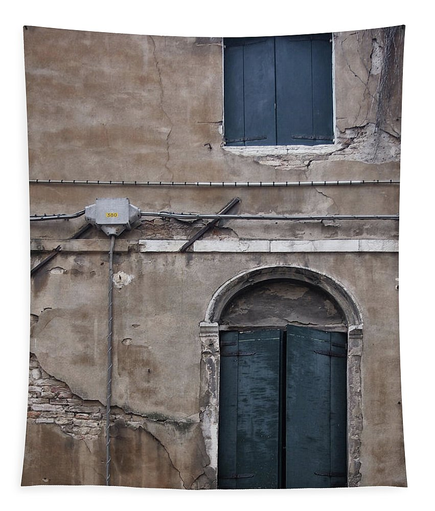 Venice Tapestry featuring the photograph Tired Walls by Philip Openshaw