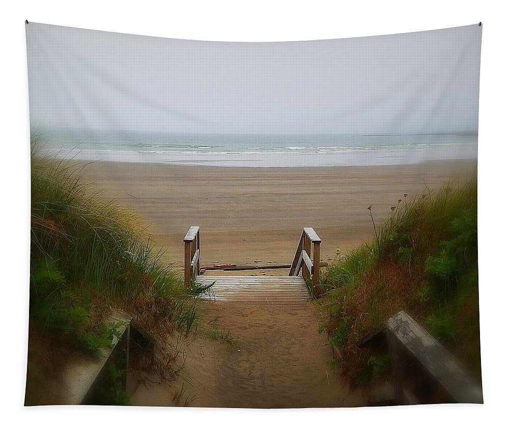 To The Beach Tapestry featuring the photograph To The Beach by Karen Cook