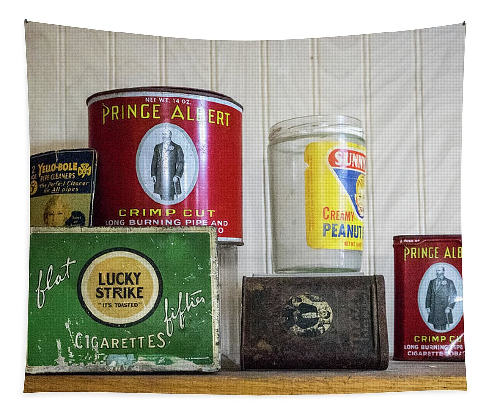 Tobacco Tapestry featuring the photograph Tobacco Coffee and Peanut Butter by Douglas Barnett