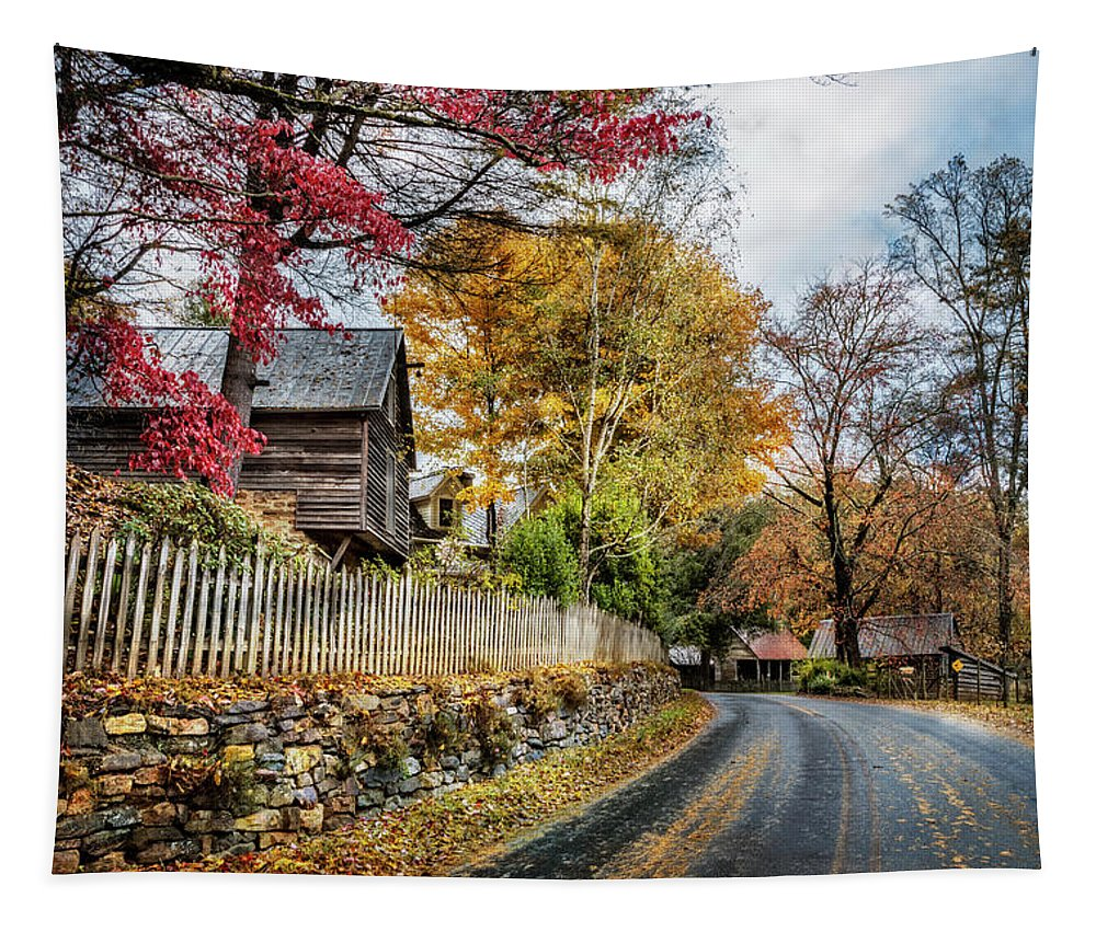 Appalachia Tapestry featuring the photograph Toccoa River Road by Debra and Dave Vanderlaan