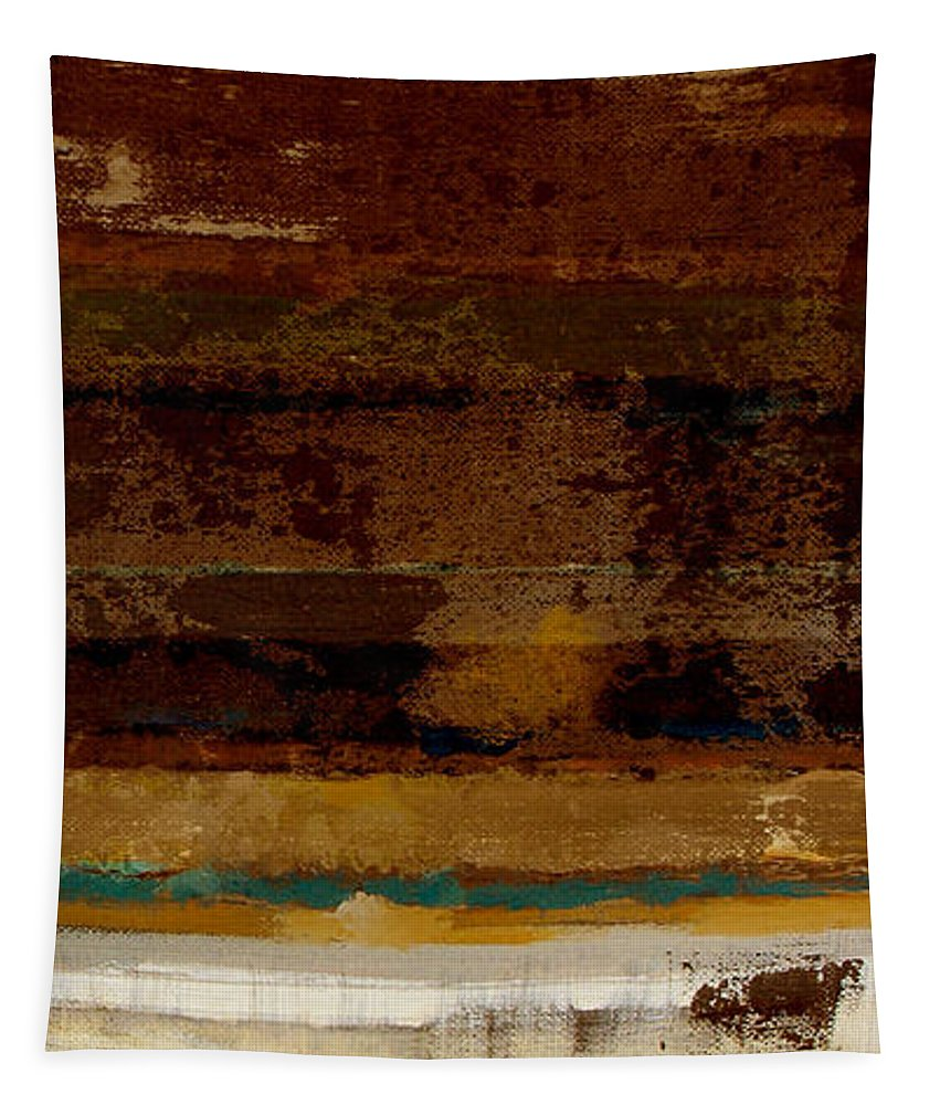 Abstract Tapestry featuring the painting Togetherness II by Ruth Palmer