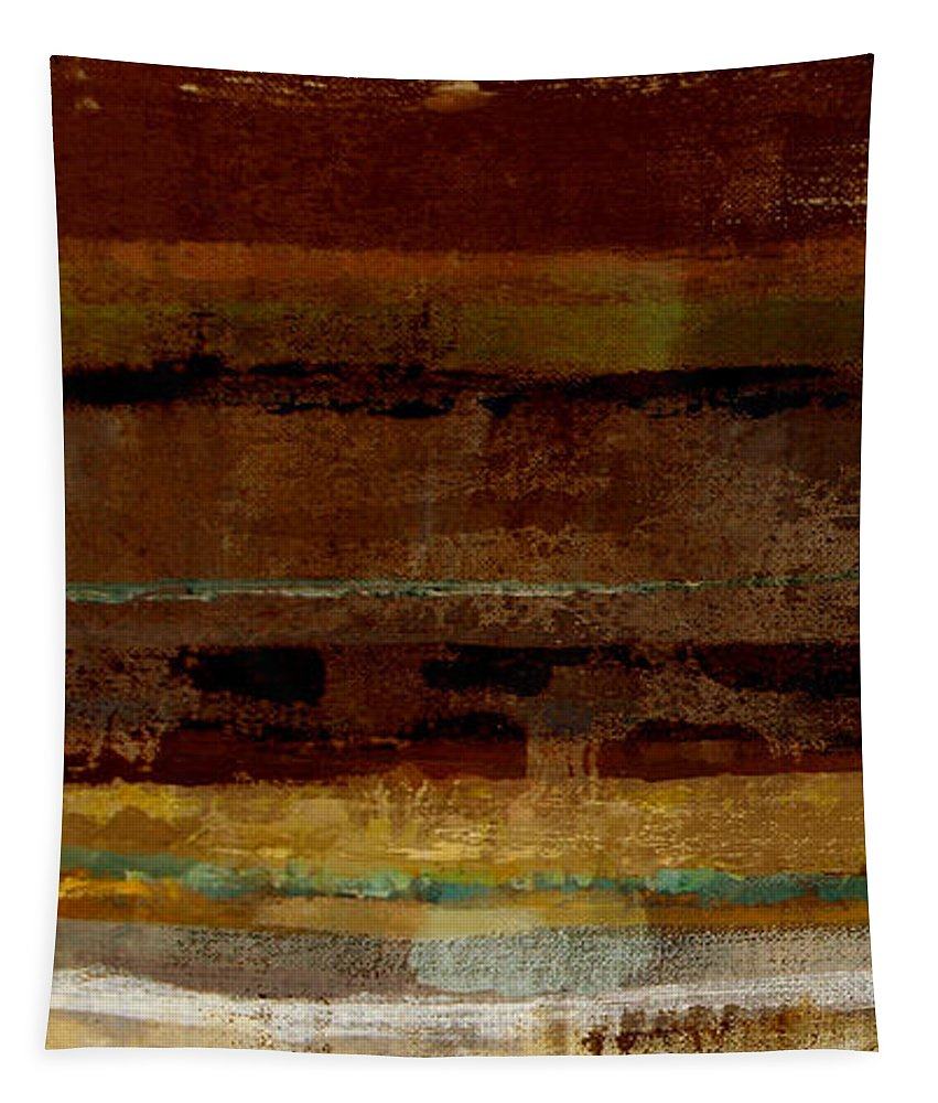 Abstract Tapestry featuring the painting Togetherness by Ruth Palmer