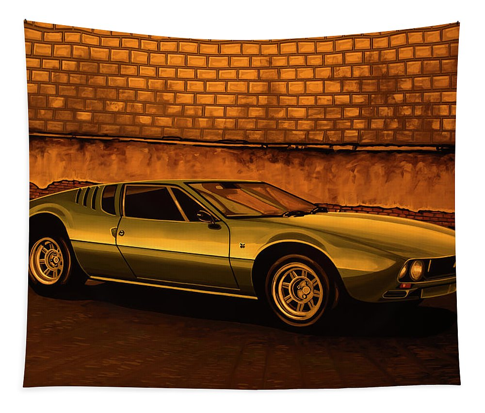 Tomaso Mangusta Tapestry featuring the painting Tomaso Mangusta Mixed Media by Paul Meijering