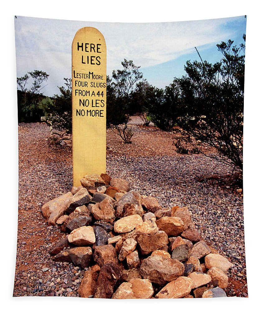 Boot Hill Tapestry featuring the photograph Tombstone Boot Hill by Paul W Faust - Impressions of Light