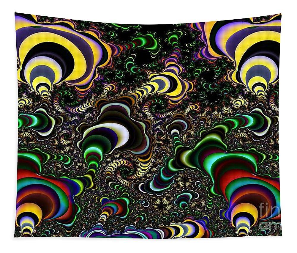 Torus Tapestry featuring the digital art Torus Spirals by Ron Bissett