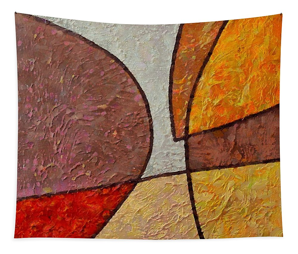 Mixed Media Tapestry featuring the mixed media Touch by Dragica Micki Fortuna