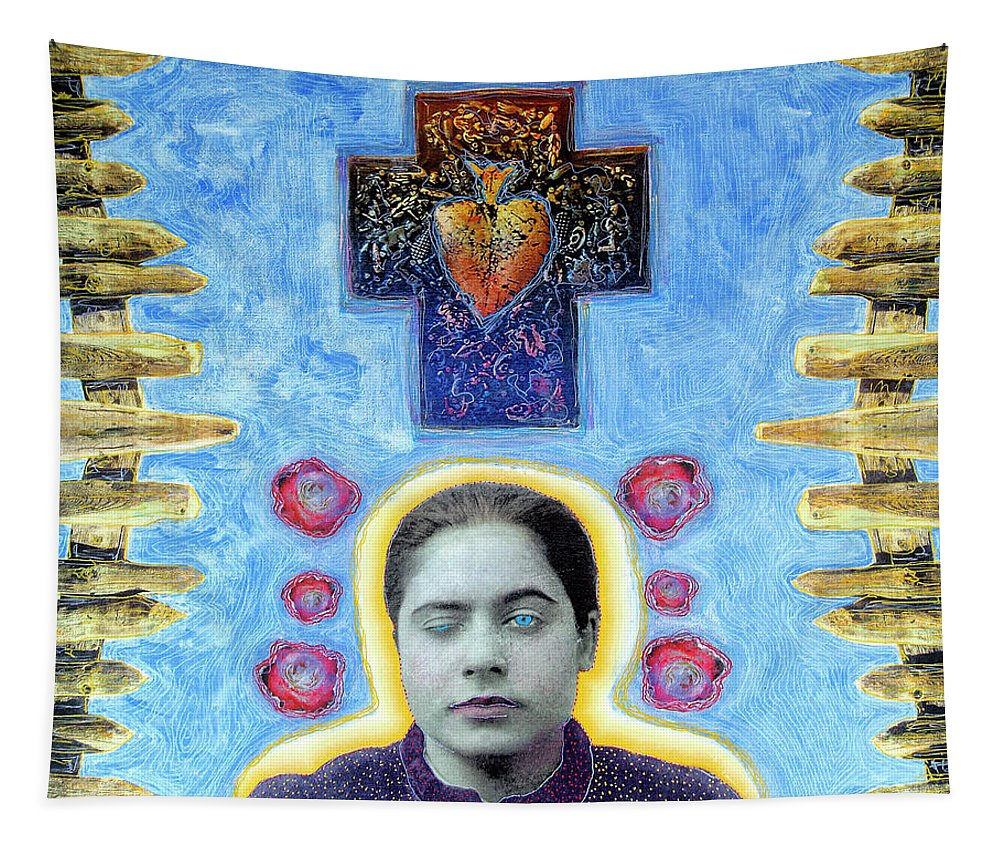 Bruja Tapestry featuring the painting Touched by Dominic Piperata