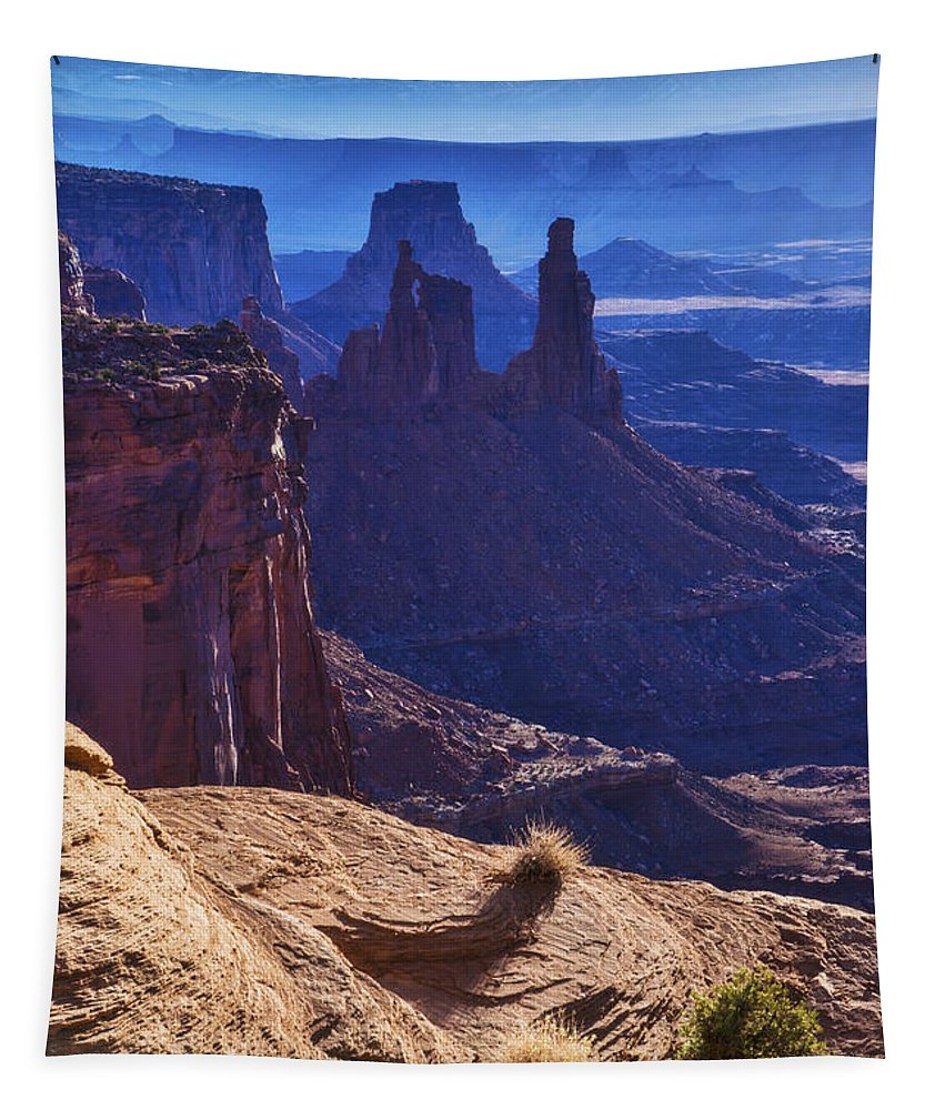 Tower Sunrise Tapestry featuring the photograph Tower Sunrise by Chad Dutson