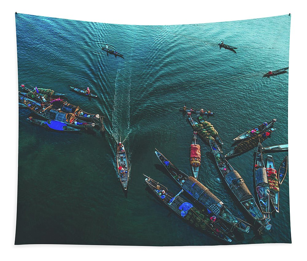 Indonesia Tapestry featuring the photograph Traffic Jam by Pixabay