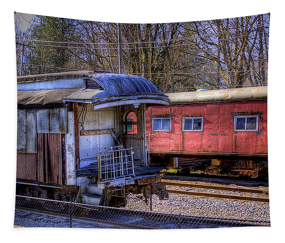 Train No. 14 Tapestry featuring the photograph Train No. 14 by David Patterson