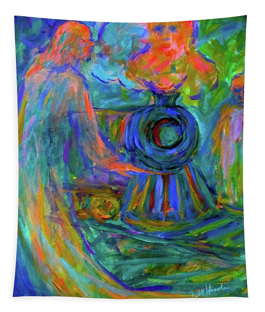 Ghost Prints For Sale Tapestry featuring the painting Train Spirits by Kendall Kessler