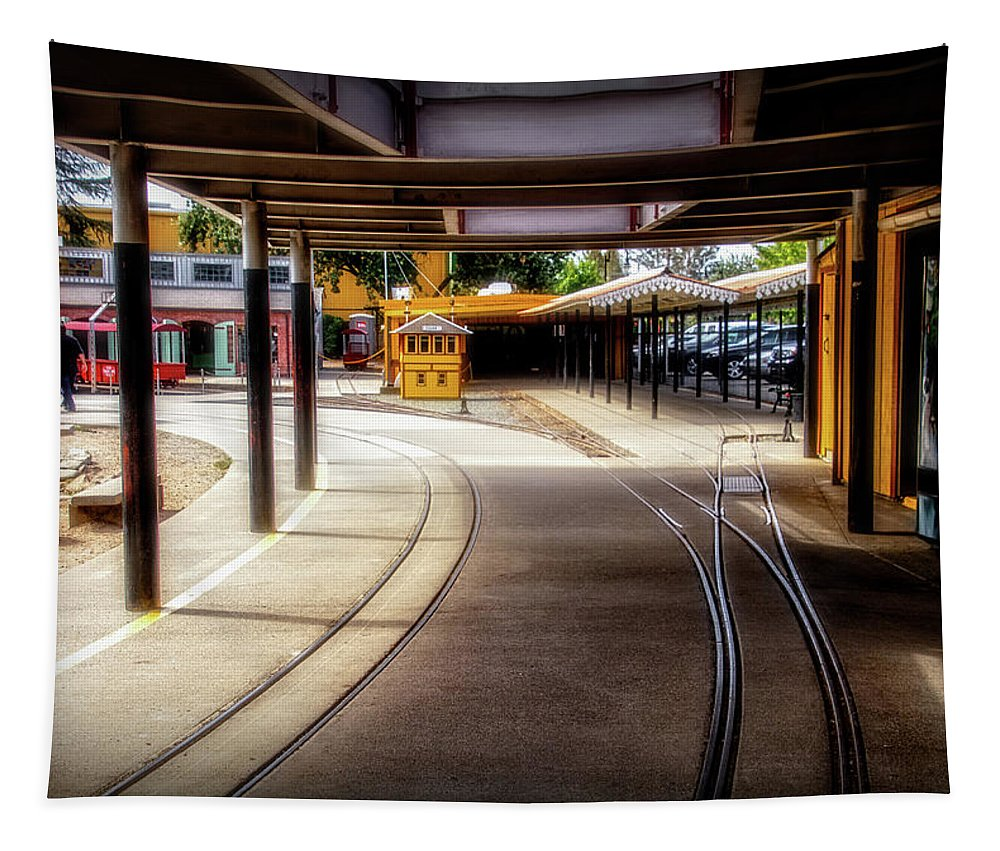 Train Town Tapestry featuring the digital art Train Town 2 by Terry Davis