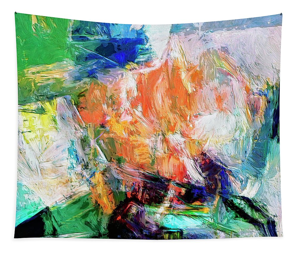 Abstract Tapestry featuring the painting Transformer by Dominic Piperata