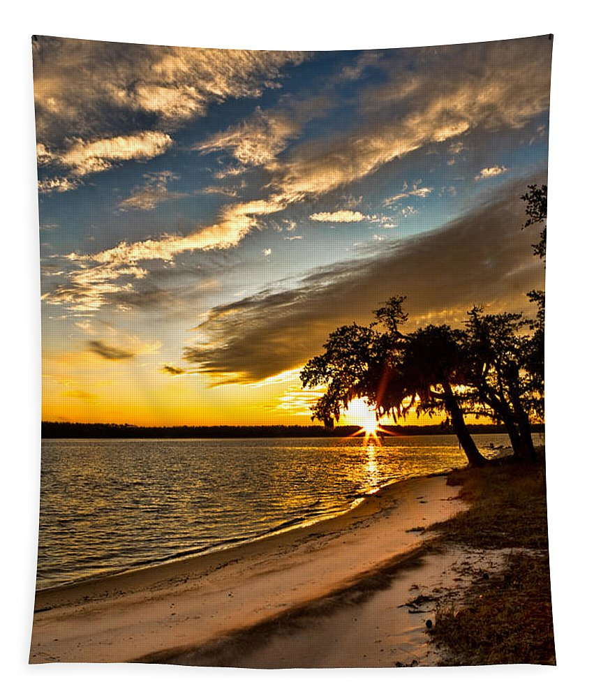 Sunset Tapestry featuring the photograph Trapped Sunset by Christopher Holmes