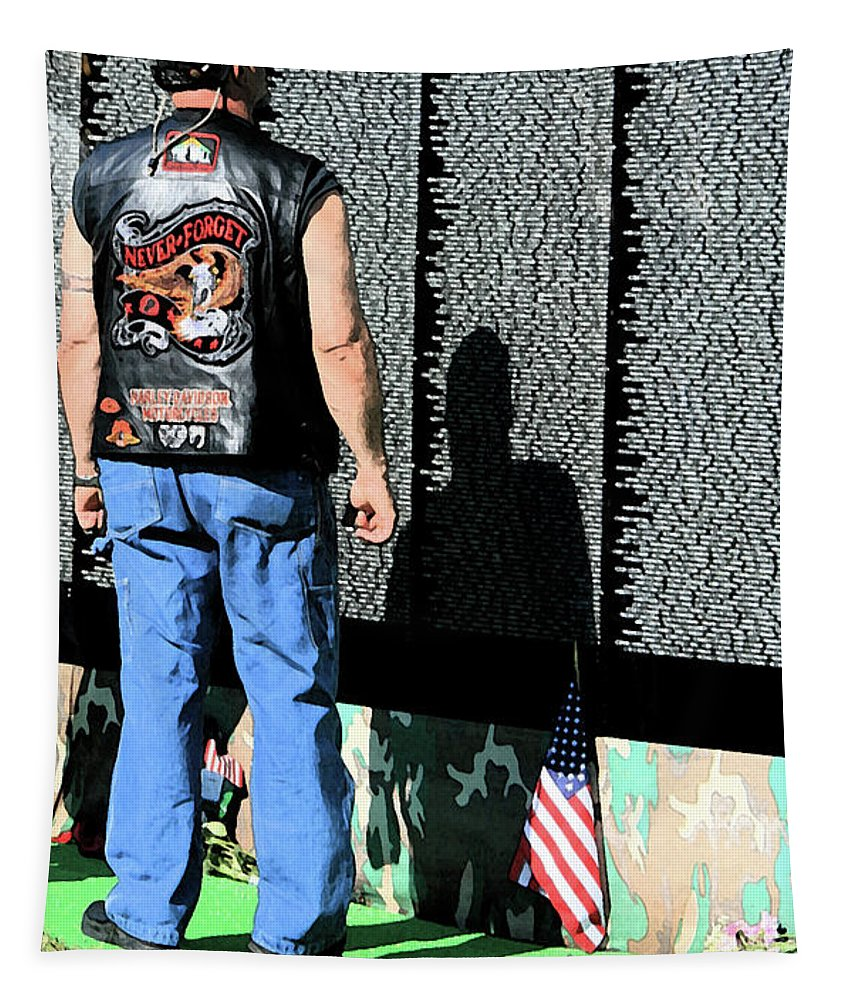 Military Tapestry featuring the photograph Traveling Wall by Karol Livote