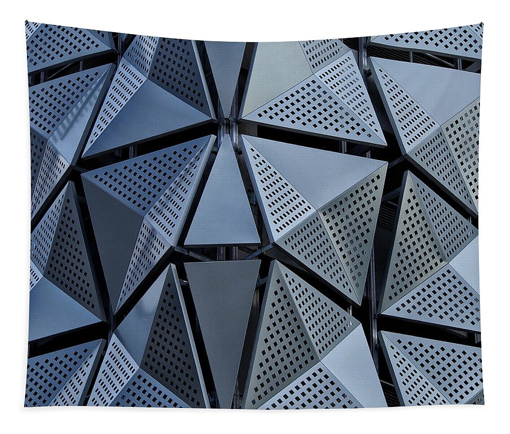 Architecture Tapestry featuring the photograph Tri-angular by Philip Openshaw