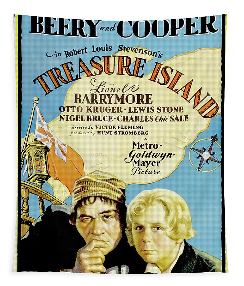 Painting Tapestry featuring the mixed media Treasure Island 1934 by Mountain Dreams