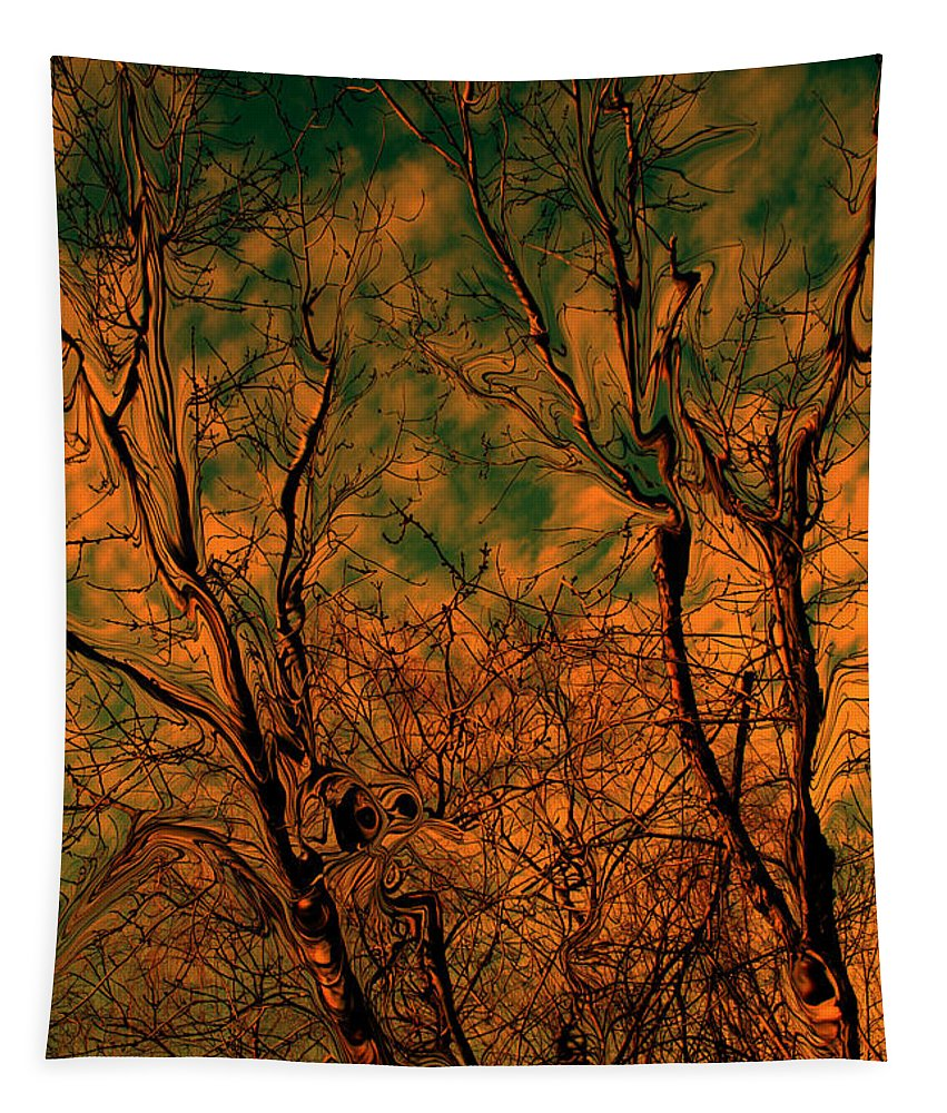 Trees Tapestry featuring the photograph Tree abstract by Linda Sannuti