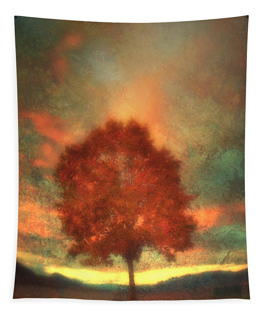 Tree Tapestry featuring the photograph Tree On Fire by Tara Turner