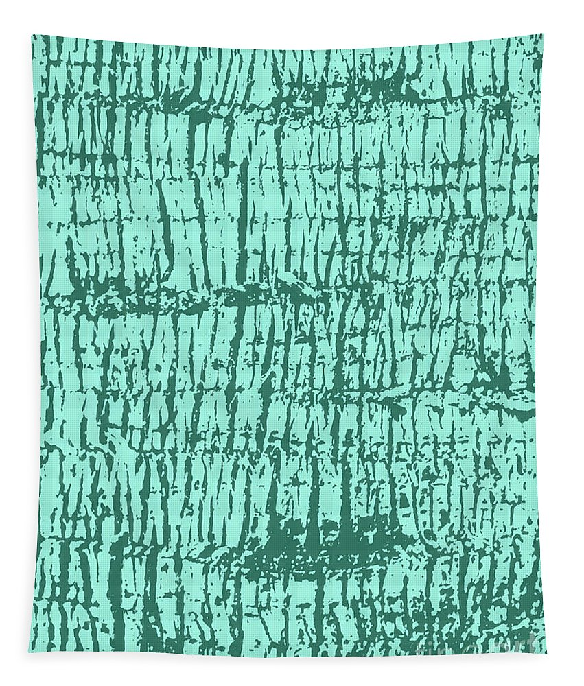 Tree Tapestry featuring the photograph Tree Texture Turquoise by Eddie Barron