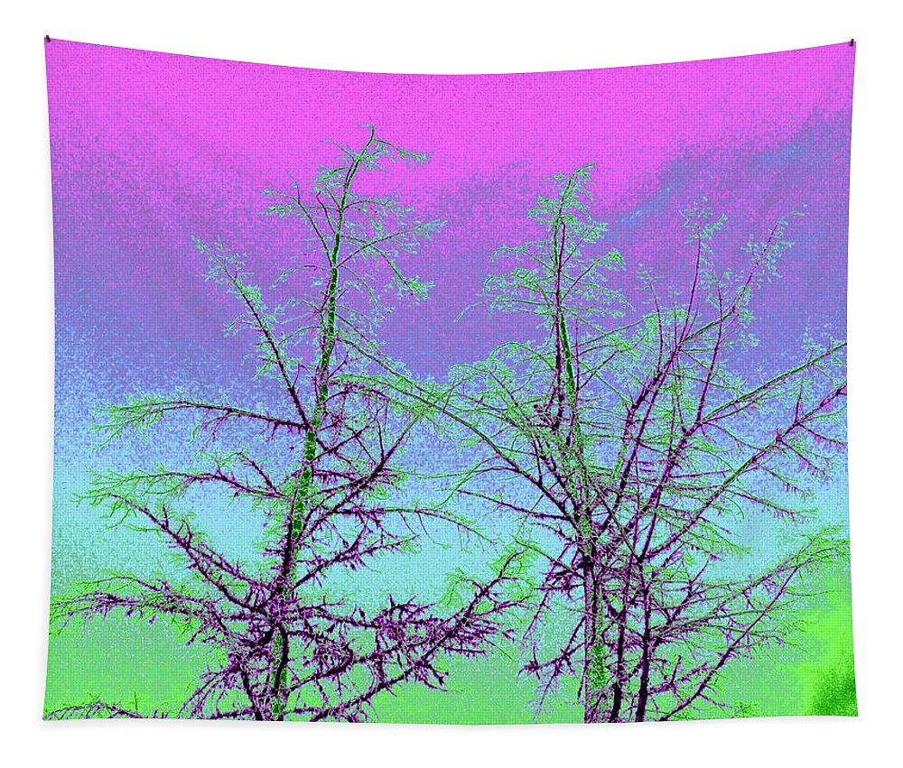 Abstract Tapestry featuring the digital art Treetops 5 by Will Borden