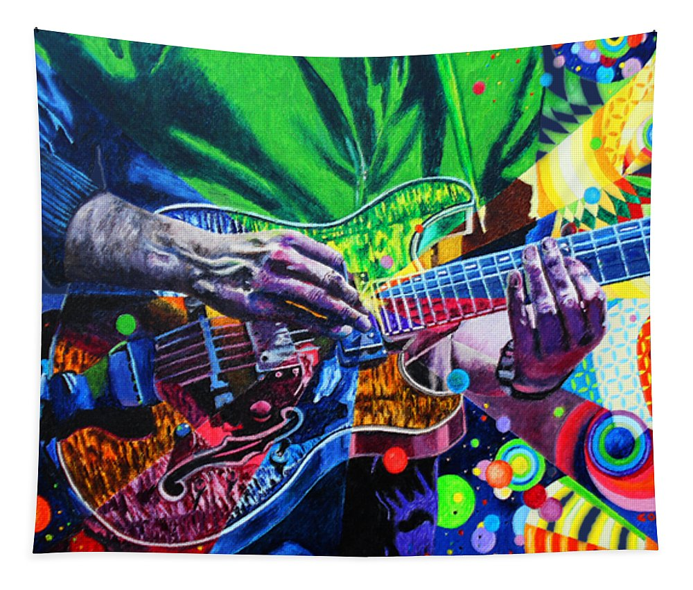 Trey Anastasio 4 Tapestry featuring the painting Trey Anastasio 4 by Kevin J Cooper Artwork
