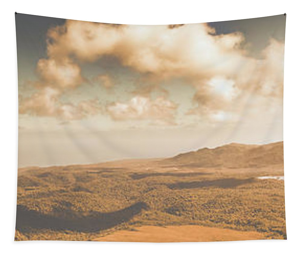 Panoramic Tapestry featuring the photograph Trial Harbour Landscape Panorama by Jorgo Photography - Wall Art Gallery