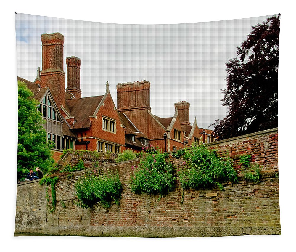Colleges Tapestry featuring the photograph Trinity Hall From The Backs. Cambridge. by Elena Perelman